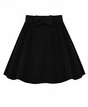 Черная школьная юбка для девочки Цвет: черный