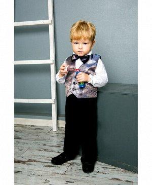 Костюм нарядный для мальчика Цвет: Черн.+хамелеон