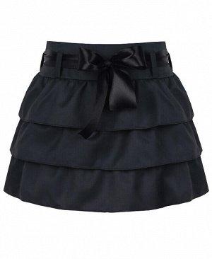 Юбка для девочки из костюмной ткани,серый Цвет: графит
