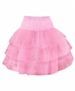 Розовый подъюбник(юбка) для девочки Цвет: розовый