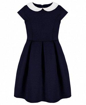 Синее школьное платье для девочек Цвет: синий