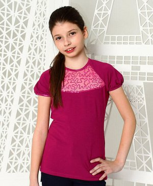 Футболка (блузка) нарядная для девочки Цвет: фуксия