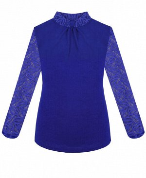 Синяя водолазка (блузка)для девочки Цвет: синий