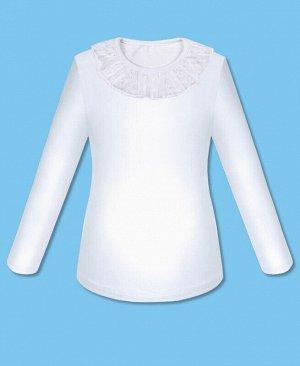 Белый школьный джемпер для девочки Цвет: белый