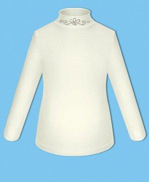 Школьная молочная блузка для девочки Цвет: молочный