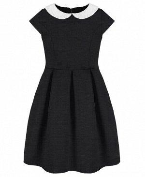 Серое платье для девочек Цвет: тёмно-серый