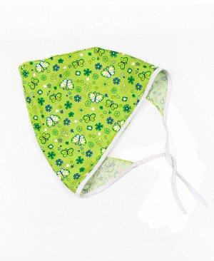 Косынка для девочки,зеленый+белый Цвет: зел.+белый