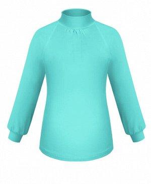 Школьная ментоловая водолазка (блузка) для девочки Цвет: ментоловый