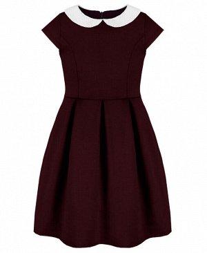 Бордовое школьное платье для девочки Цвет: Бордовый