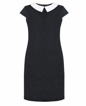 Серое школьное платье для девочки Цвет: т.серый