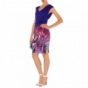 Платье комбинированное из двух тканей