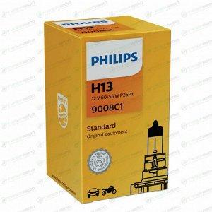 Лампа галогенная Philips Standard H13 12В, 60/55Вт, арт. 9008C1