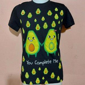 Светящаяся футболка «Авокадо» черная