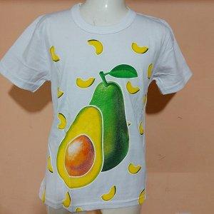 Светящаяся футболка «Авокадо» белая