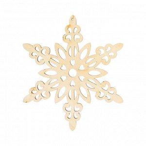 Заготовка для декора Снежинка, фанера, 12*10см