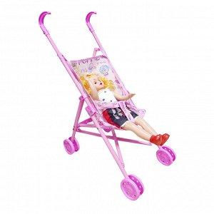 Bady Cart Коляска трость с куклой (пласт) возраст 3+