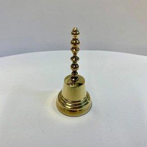 Колокольчик латунный, с длинной ручкой диаметр 35 мм, высота 75 мм