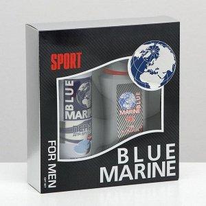 Подарочный набор Blue Marine Sport гель для душа 250 мл + пена для бритья 200 мл