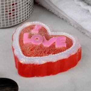 "Фигурное мыло ""Сердце I Love You"" 60гр"
