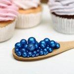 Драже зерновое в цветной кондитерской глазури «блеск» Синий 50 г