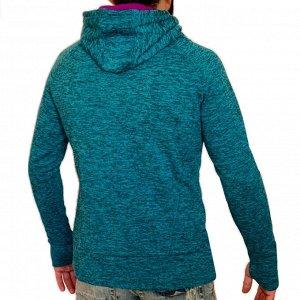 Синяя мужская кофта худи Energy Zone – умный фасон сделает фигуру подтянутой и спортивной №197