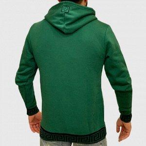 Зеленая мужская толстовка худи K.R.E.A.M. – уличный стиль на каждый день №216