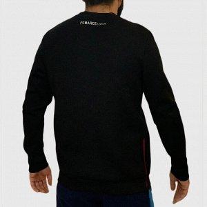 Спортивный мужской реглан FC Barcelona – для парней, которые не заморачиваются с цветом, выбирая хитовые темные оттенки №91