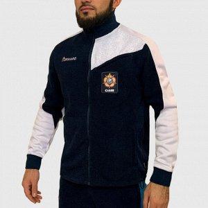 Мужская толстовка на молнии – высокое горло, комби-пошив, фирменные логотипы №145
