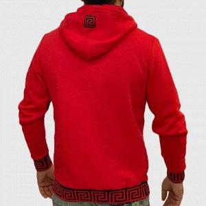 Красная мужская толстовка K.R.E.A.M. – дресс-код улиц нового сезона №217