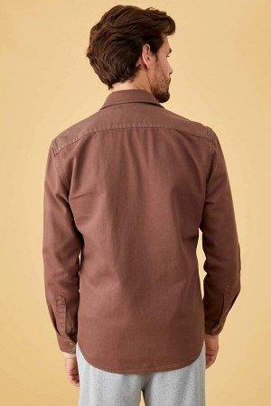 рубашка Размеры модели: рост: 1,78 грудь: 85 талия: 75 бедра: 85 Надет размер: S  Хлопок 100%