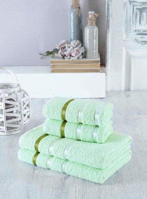 Набор полотенец в мягкой упаковке из 4-х предметов фисташковый (50*90-2шт; 70*140-2шт)