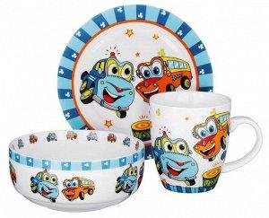 """Набор детской посуды """"Машинки"""""""