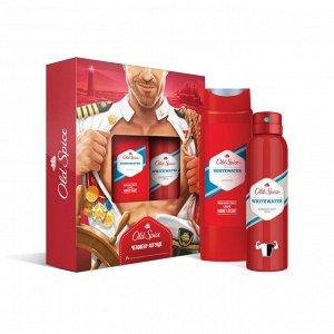 Q -> ПН OLD SPICE Аэрозольный дезодорант WhiteWater 150мл + Гель для душа WhiteWater 250мл