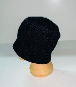 Шапка Оригинальная шапка черного цвета  №1616