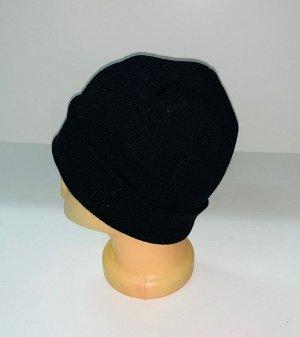Шапка Привлекательная черная шапка  №1661