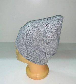 Шапка Светлая шапка модного кроя  №1553