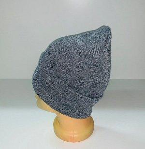 Шапка Модная шапка серого цвета  №1555