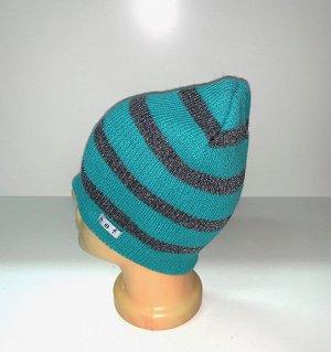 Шапка Красивая шапка в полоску  №1592