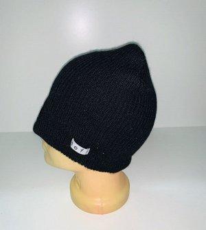 Шапка Удобная шапка черного цвета  №1646