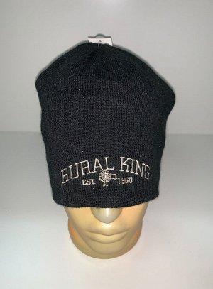 Шапка Черная классическая шапка  №1649