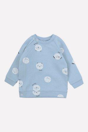 Джемпер(Осень-Зима)+baby (щенки на пыльно-синем)