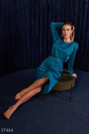 Шелковое платье изумрудного оттенка