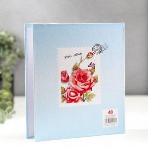 """Фотоальбом на 40 фото 13х18 см """"Кустовая роза"""" в коробке МИКС 20,5х18х5,2 см"""