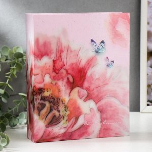 "Фотоальбом ""Цветок и бабочки"" на 200 фото 10х15 см. 18,5х5х23см. ПП карм."