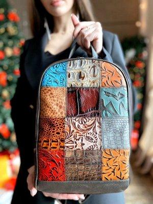 Женский кожаный рюкзак, в наличии.