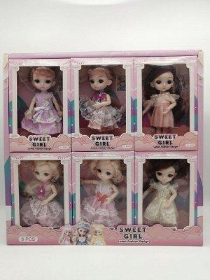 """Кукла """"Sweet Girl"""" в коробке  6 дизайнов возраст 3+"""