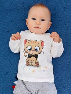 """Лонгслив """"Наш котик"""" для малышей"""