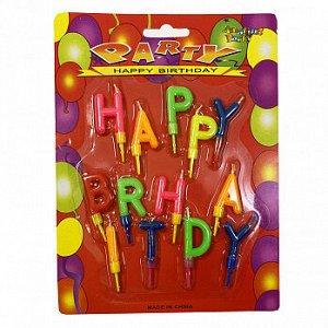 """Свечи для торта """"Happy Birthday"""", буквы цветные 2,5 см"""