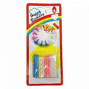 """Свечи для торта """"Классика"""" набор 24 штуки, цветные 5,5 см"""