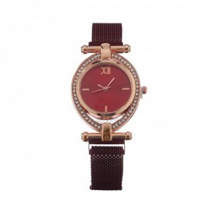 """Часы наручные женские """"Пэрис"""", d=2.5 см, красные"""